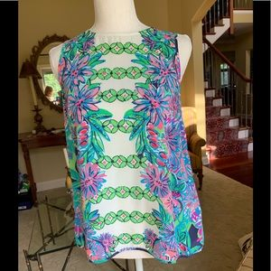Lilly Pulitzer Silk Button Back shirt